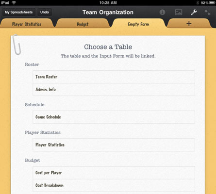 How to Create a Form in the Numbers App for iPad - dummies Order Form App For Ipad on organization order, internet order, iphone app order, ios 8 app order,
