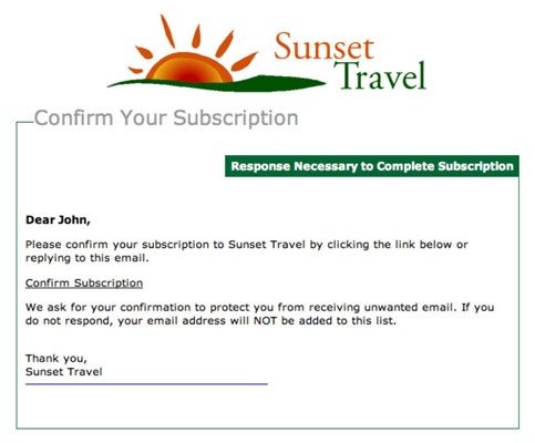 A prospective subscriber must click an additional link for confirmed permission. [Credit: Courtesy