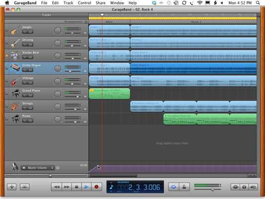 iLife '11: Use the GarageBand Master Track Controls - dummies