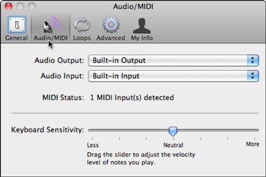Connecting a USB MIDI Keyboard in iLife '11's GarageBand - dummies