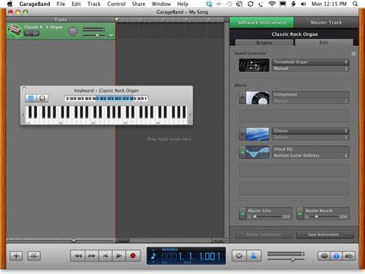 Use the Tonewheel Organ sound generator for the Classic Rock Organ.