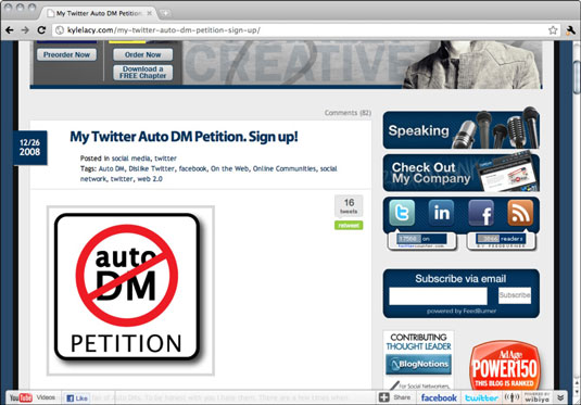 An online petition to stop Auto DM on Twitter.