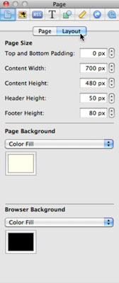 Change the page layout attributes.