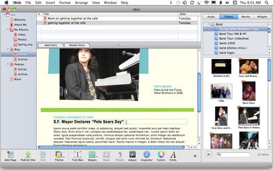 Edit an existing blog entry.