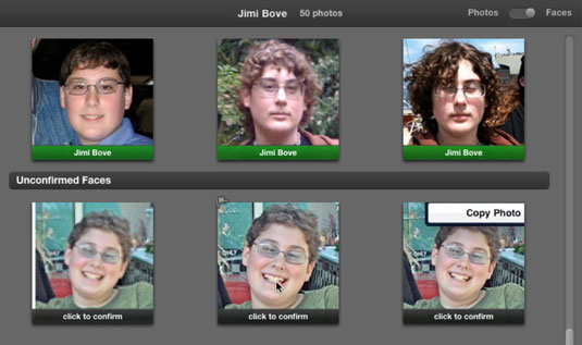 ilife 11 save and match faces in iphoto dummies