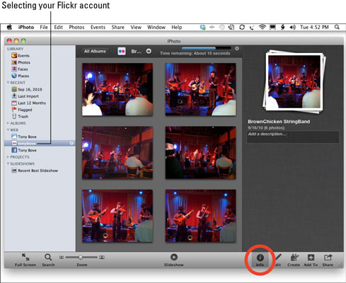 Manage the published set on Flickr and edit its information.