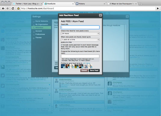 Automating the blog post in HootSuite