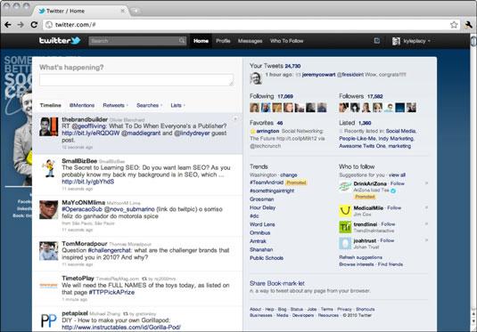 Twitter's homepage