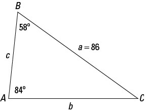 How to Use the Law of Sines with a Triangle - dummies