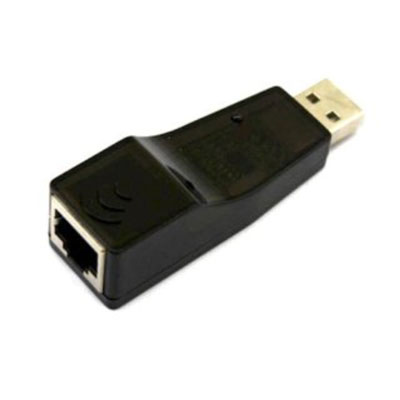 A USB network adapter.
