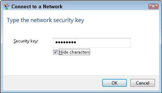 Connect to a Network window in XP.