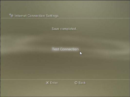 PS3 lets you test the connection to the internet.