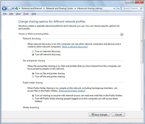 how to turn on or off network discovery in windows