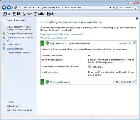 Changing Windows Firewall Settings with Advanced Security
