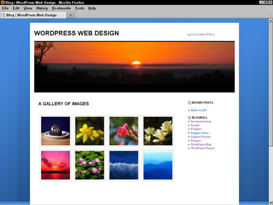 Edit a WordPress Theme to Include Photo Gallery Styles - dummies