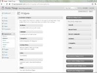 The widgets tab in the WordPress dashboard.