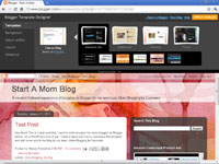 Choosing a background theme for a blog in Blogger.