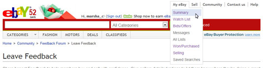 How To Track Items And Sellers On Ebay Dummies