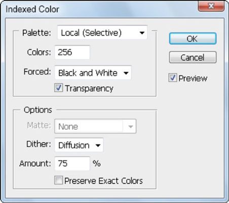 Index color uses a limited number of colors to create an image.