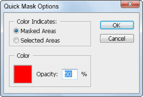 Change the color of the Quick Mask.