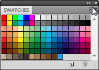 Click the panel menu to access additional color options.