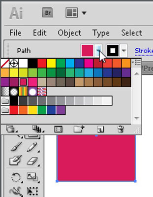 Select any color from the Fill Color Picker.