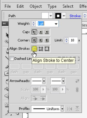 The Align Stroke options.