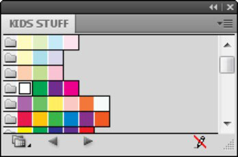 An imported custom swatch library.