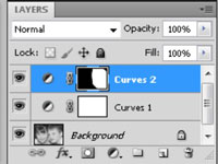 The Layers panel in PhotoShop CS5.