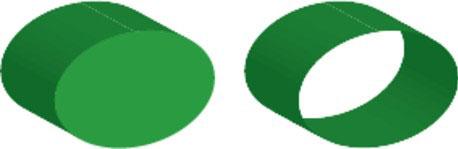 Cap on (left), cap off (right).