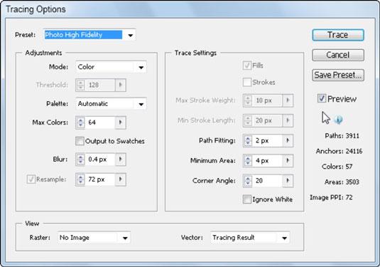 Adobe CS5 Illustrator Live Trace Feature - dummies