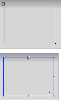 Click and drag the page with the Draw AP Div tool to create a box.