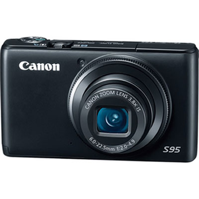 A Canon point-and-shoot camera.