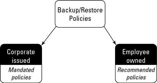 Categorizing backup and restore policies.