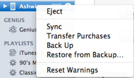 iPhone backup and restore capabilities.