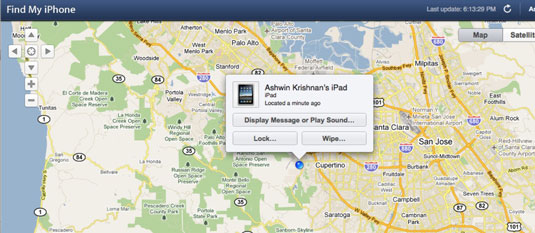 The Find my iPhone and Remote Wipe services.