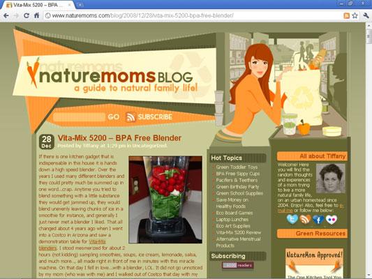 The blog NatureMoms.