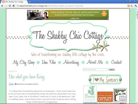 The blog Shabby Chic Cottage.