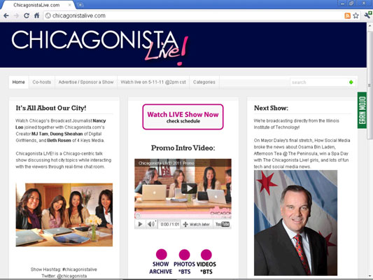 Beth Rosen's blog Chicagonista Live.