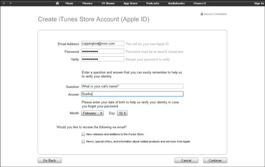 How to Open an iTunes Account - dummies