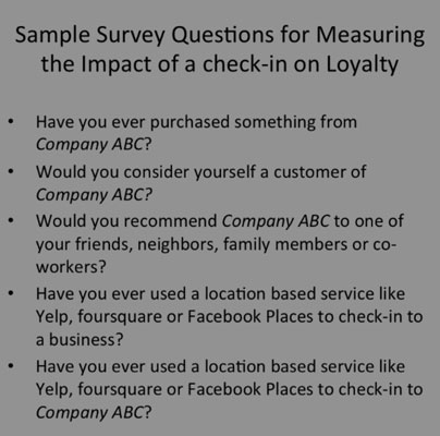 A survey to test whether your location-based campaign is improving customer loyalty.