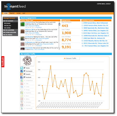 You can integrate multiple location-based services into one view with MomentFeed.