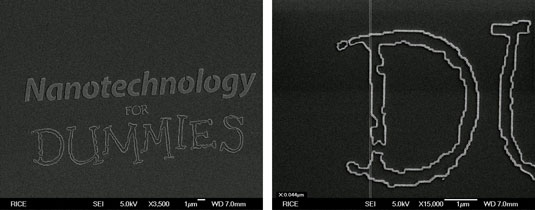 A pattern created using e-beam nanolithography. [Credit: Courtesy of Sungbae Lee at Rice University]