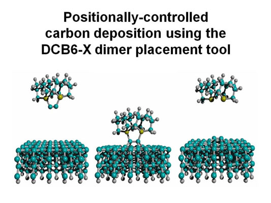 Depositing carbon atoms in a molecular assembly process. [Credit: Image © 2004 Robert A. Freit