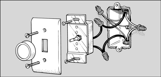 how to replace a light switch with a dimmer dummies rh dummies com  3 wire dimmer switch wiring diagram