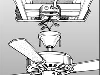 ceiling fan attachments - Outdoor Ceiling Fans:7plete The Attachment Of Fan Embly To Ceiling Box,Lighting