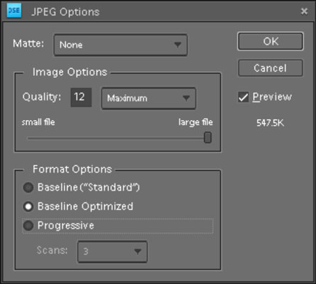 JPEG File Format in Photoshop Elements 10 - dummies