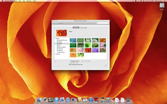 How To Set A Picture As Desktop Wallpaper In Mac Os X Lion Dummies