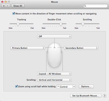 How to Adjust Mouse Settings in Mac OS X Lion - dummies