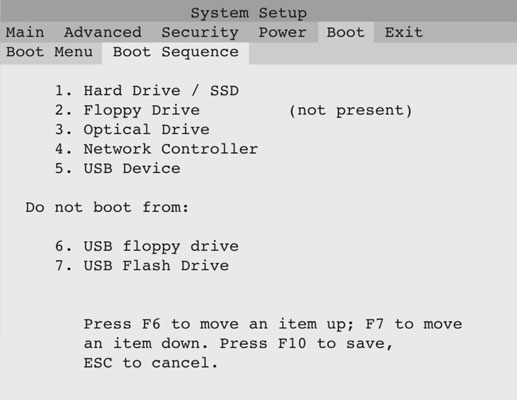Change the Boot Order on Your PC - dummies